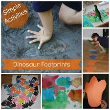 dinosaur footprint activities dinosaur steam for kids