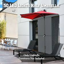 Battery Operated Patio Umbrella Lights patio ideas half umbrella patio half patio umbrella with stand
