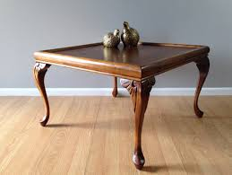 vintage square coffee table vintage square coffee table with carved cabriole legs retro
