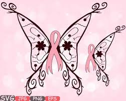 breast cancer butterfly svg swirl props clipart awareness ribbon