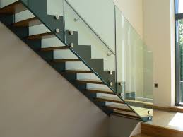 Chrome Banister Stairs Modern Stair Railing For Cool Interior Staircase Design