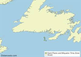 Utc Time Zone Map by Pmst Pmdt Saint Pierre And Miquelon Time Zone