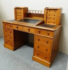 Victorian Secretary Desk by Victorian Oak Dickens Style Desk Antiques Atlas
