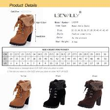 womens boots uk size 2 lsewilly ankle boots faux fur suede lace chunky heel