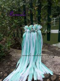 wedding wands free shipping 50pieces lot style d green ribbon lace wedding