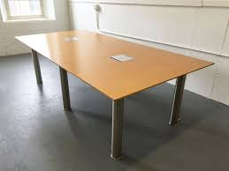 4 X 8 Conference Table 8 X 4 Maple Conference Table With Grommets Conklin Office