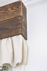 Old Curtains Wood And Dropcloth Curtains Hunt And Host