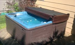 exterior ipe decking with cozy caldera spas and