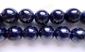 dark blue opal porcelain beads colored beads