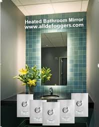 nice looking bathroom heated mirrors mirror heater led illuminated