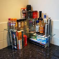 Herb Shelf Hartleys 3 Tier Corner Organiser Kitchen Worktop Shelves Storage