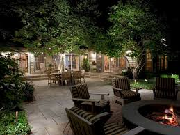 Landscape Lighting Installation - spacious outdoor landscape lighting installation with outdoor