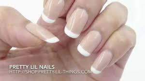 classic french nails tutorial 經典法式指甲教學by pretty lil nails