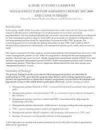Best Resume Executive Summary by Executive Summary For A Paper Template