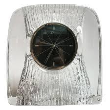 daum crystal desk clock for