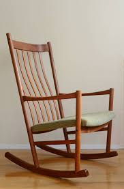 Rocking Chair Teak Wood Rocking Hans Wegner Teak Rocking Chair At 1stdibs