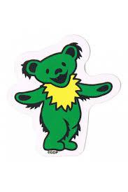 dead mini dancing bear sticker 2