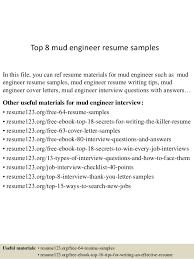 Engineering Resume Examples by Top 8 Mud Engineer Resume Samples 1 638 Jpg Cb U003d1432129110