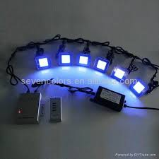 colorful rgb outdoor square led stair lighting with stainless