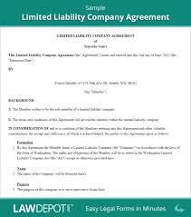 sample llc operating agreement template free llc operating