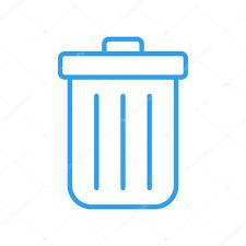 recycle bin outline icon modern minimal flat design style trash