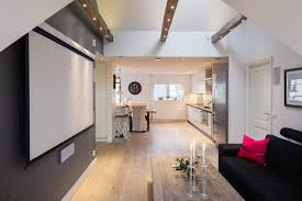 One Bedroom Apartment Designs Elegant Small One Bedroom Modern Attic Apartment With Exposed Wood