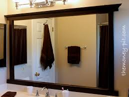 Framing Bathroom Mirrors by Framing A Mirror Without Miter Cuts The Kim Six Fix