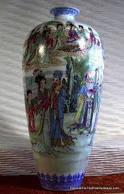 Chinese Hand Painted Porcelain Vases Chinese Eggshell Vintage Porcelain Vase Passion For The Past