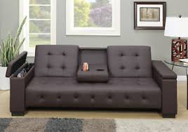 Futon Or Sleeper Sofa Adjustable Sofa Bed Futon Sleeper Drop Console Pu