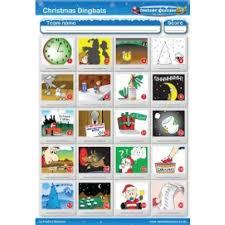 printable quizzes uk christmas dingbats picture quiz