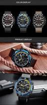 megir 2062 men watch sport creative chronograph luminous male