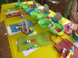 mr maker party simple set up the party table with craft see