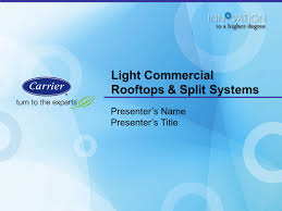 light commercial rooftops u0026 split systems ppt video online download