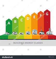 infographic vector illustration buildings energy efficiency stock