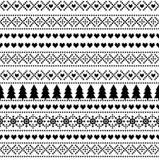 eamless christmas pattern card scandinavian sweater style