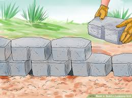 how to build a retaining wall with pictures wikihow