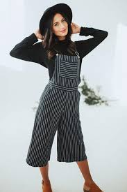 overall jumpsuit ellie navy striped overall jumpsuit b ö h m e