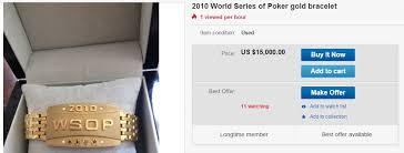 bracelet ebay images 2010 wsop bracelet up for sale on ebay online poker news jpg