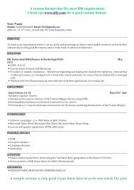 a resume format for a high school resume template for college admissions sle college