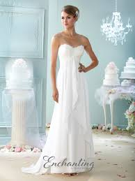 chiffon wedding dress lace and chiffon wedding dress 215108 enchanting by mon cheri