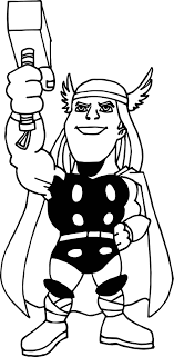 Avengers Thor Coloring Page Wecoloringpage Thor Coloring Page