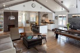 modern stools kitchen attractive living room with vaulted ceiling also open kitchen with
