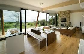 plan de cuisine ouverte sur salle à manger salon avec salle à manger 60 idées d aménagment ouvert salon