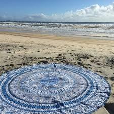 Beach Rug Round Mandala Beach Rug And Carpet Blue Tapestry Indian Hippie