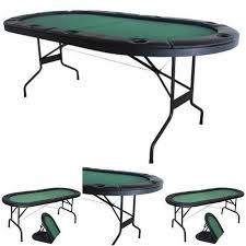 folding oval poker table texas holdem poker table folding game room card green oval cup