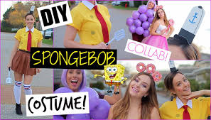 diy spongebob halloween costume makeup u0026 party decor youtube