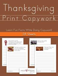 thanksgiving print copywork