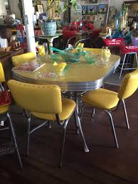 Yellow Kitchen Table And Chairs - 1950 u0027s chrome tables chairs furnishings lonnie and mabel u0027s