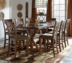 Enchanting  Piece Kitchen Table Set With Bar Height Chairs Trex - Bar height dining table with 8 chairs