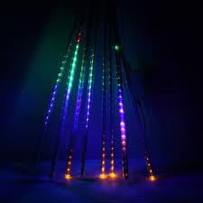 lights led waterproof snowfall meteor light 50cm 8tube